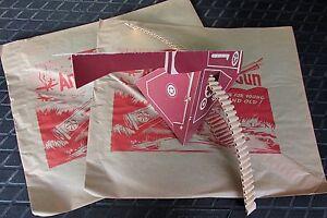 2 X Vintage WW2 Envelope Paper Toy NMIP Anti-Aircraft Gun cannon flack 1940s USA