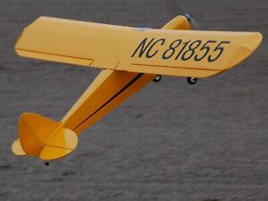RC-PE-Piper-j3-balsa-madera-modelo-de-avion-ARF-1190mm-alturas-paginas-aleron
