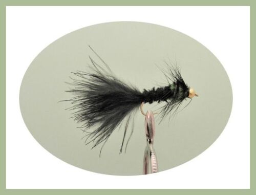 Size 10 For Fly Fishing 12 Pack Coloured Tailed Montana Montana Trout Flies