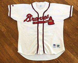 Atlanta-Braves-Diamond-Collection-Russell-MLB-Baseball-Jersey-Size-48