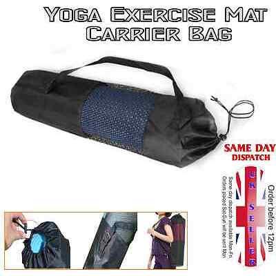 New Yoga Mat Carrier Bag Nylon Mesh Adjustable Strap Washable Exercise
