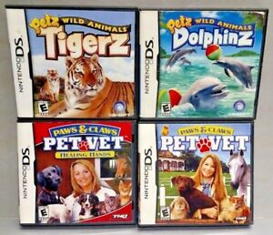 Paws-Claws-Vet-Healing-Hands-Petz-Tigerz-Dolphinz-Game-Lot-Nintendo-DS-Lite-3DS