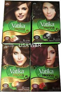 Dabur Vatika Henna Powder Best Hair Color Dark Natural Brown