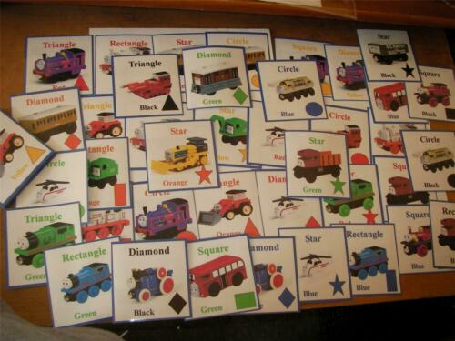 THOMAS THE TANK SHAPES CARD GAME Autism//Special Needs