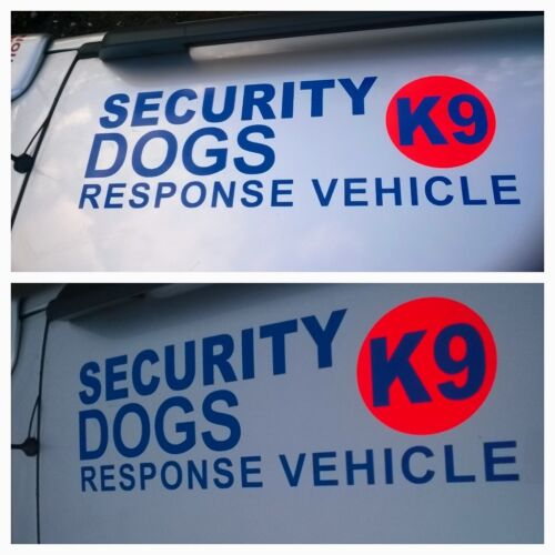 3 x LARGE REFLECTIVE SECURITY DOGS RESPONSE VEHICLE STICKER DECALS s385