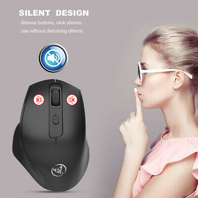 2.4GHz Wireless Silent Vertical 2400DPI USB Optical Game Mouse Ergonomic Mice