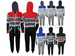 All-in-One-Hoody-Kids-Onezie-Aztec-Boys-Plain-Girls-Hooded-Piece-Cotton-Jumpsuit