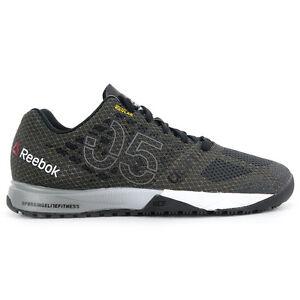 Reebok Womens CrossFit Nano 5.0 Coal/Black/White Training Shoes V72419 NEW!