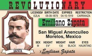 License Revolutionary Card Id Emiliano Mexican Mexico Morelos Ebay Drivers Zapata