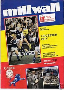 MILLWALL-V-LEICESTER-CITY-FA-CUP-16-2-85