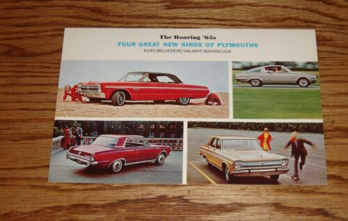 Original 1965 Plymouth Sales Sheet Brochure 65 Barracuda Fury Valiant Belvedere