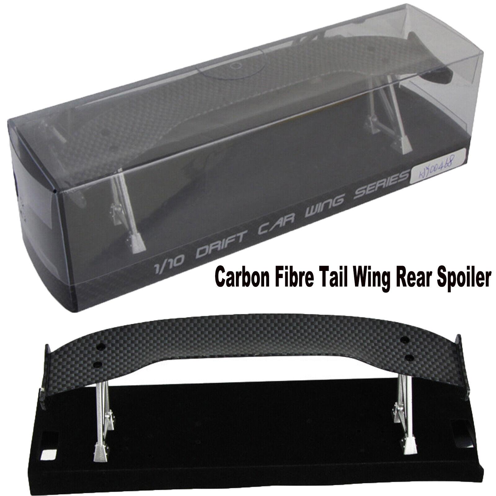 1//10 Carbon Fiber Tail Wing RC Racing Drift On-Road Car GT Rear Spoiler 018002BK