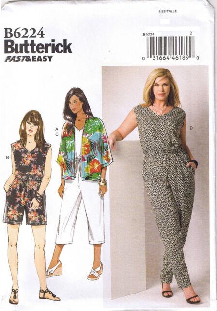 Butterick Sewing Pattern B6224 Women\'s Kimono and Jumpsuit Uncut | eBay