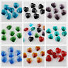 10mm Heart Faceted Glass Crystal Charms Earring Findings Pendant Beads Colors