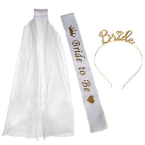 WHITE-GOLD-BRIDE-TO-BE-VEIL-SASH-TIARA-HEN-NIGHT-PARTY-DO-TEAM-BRIDE-KIT