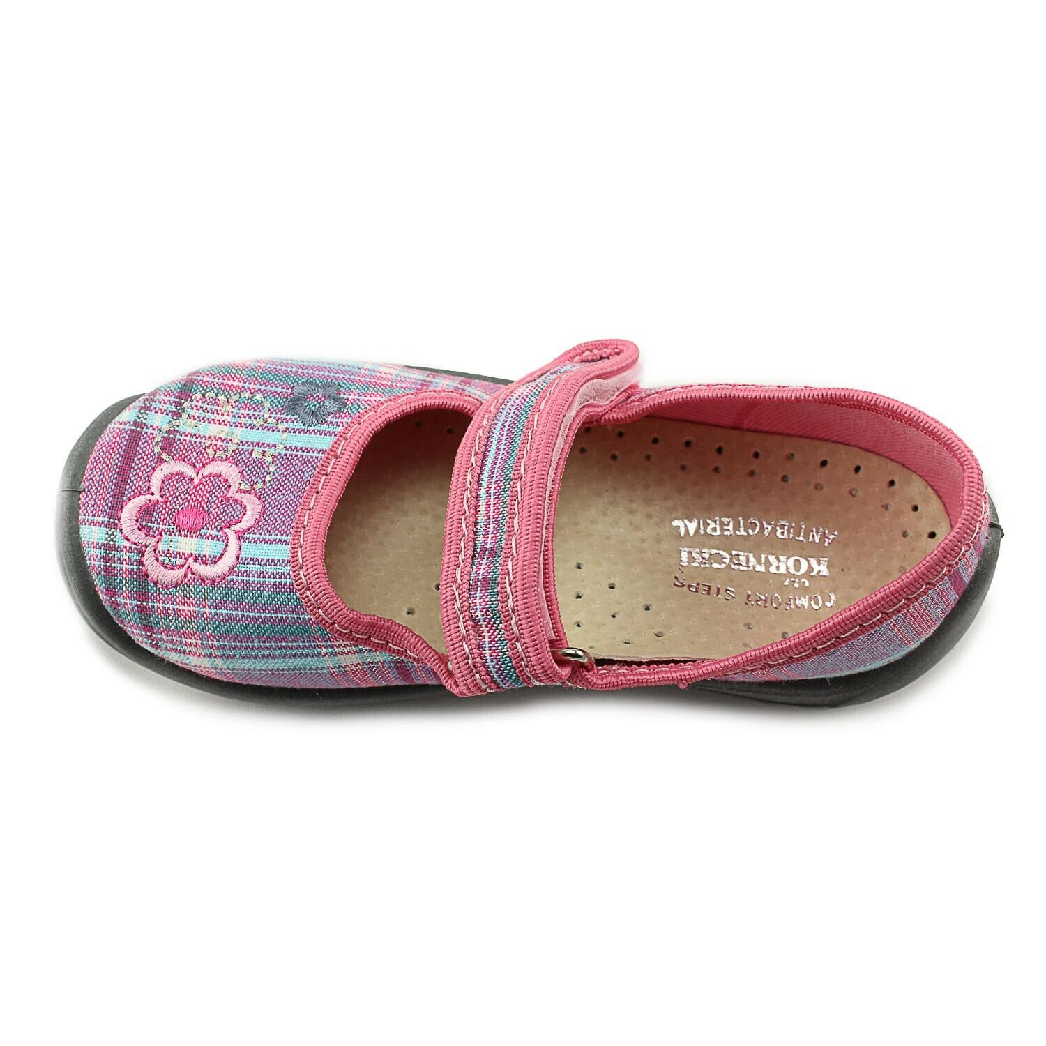 Kornecki Girls Mary Jane Canvas Shoes with Leather Innersole Made in Poland