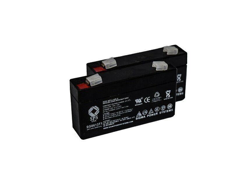 SPS Brand 6V 1.3 Ah (Terminal T1) battery for Consent GS6V1.3AH (2 PACK)
