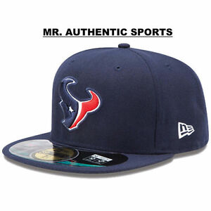 HOUSTON TEXANS New Era 59Fifty On Field NFL Fitted Cap Hat Sz 7 1 2 ... 91ece070d