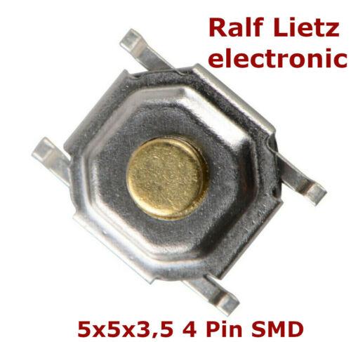 Drucktaster push button,Mikroschalter,Microtaster,5x5x3,5 4pin,SMD Mikrotaster