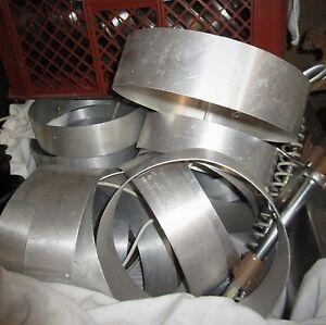 Back- & Gefrierringe: B 26 cm x H 7 cm / 3 Stück / Aluminium / Profi-Equipment ! - NRW, Deutschland - Back- & Gefrierringe: B 26 cm x H 7 cm / 3 Stück / Aluminium / Profi-Equipment ! - NRW, Deutschland