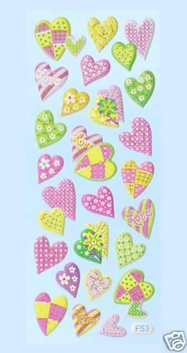 Sticker *Herzen* 3451189 NEU Softy