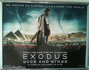 Cinema Poster Exodus Gods And Kings 2014 Adv Quad Ridley Scott Christian Bale Ebay