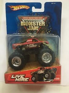 Hot Wheels Monster Jam Monster Truck Live Wire 39 Red Die Cast 1 64 Scale 2005 Ebay