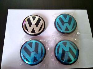 ☆ 4 Logo EmblÈme Volswagen 76 Mm 7l6601149 , Centre De Roue/ Neuf ☆ DernièRe Technologie
