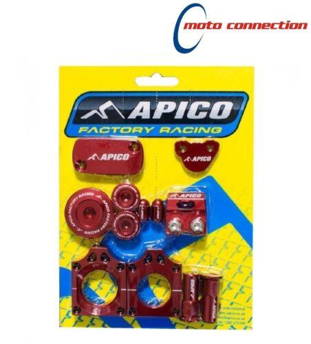 APICO FACTORY BLING PACK KIT RED HONDA CRF450X 2005 - 2018 :ABP2