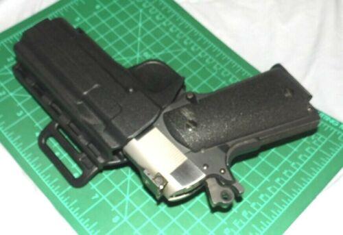 "4.5/"" 1911 Uncle Mike/'s 74111 RH IRT Paddle /& Belt Holster Colt Commander /& 4/"""