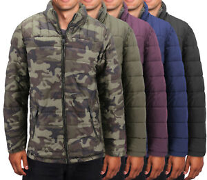 Men-s-Camo-Reversible-Insulated-Quilted-Packable-Lightweight-Zip-Puffer-Jacket