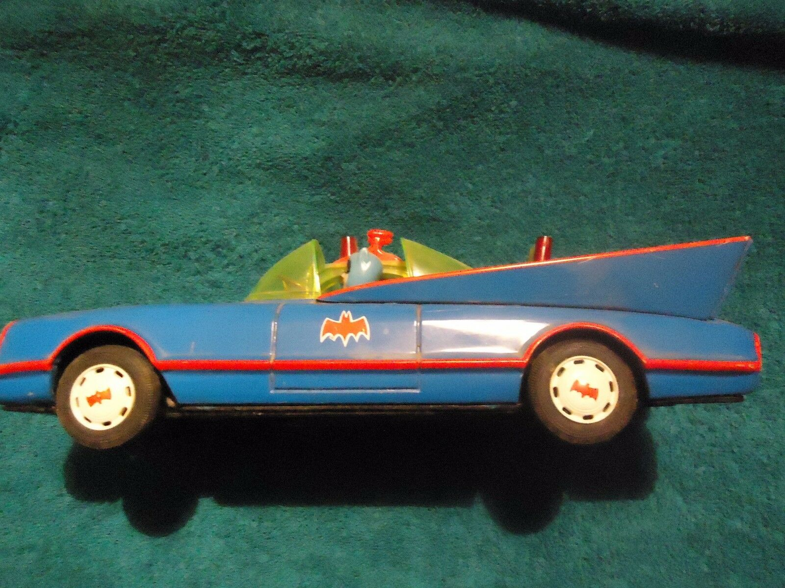 Vintage Bat Mobil tin battery operated Aoshia 1960's 1960's 1960's - 70s Tin Toy 9a1043