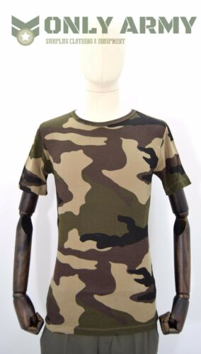 French Army CCE Tshirt Woodland F2 Camo T-shirt Crew Neck DPM Camouflage NATO