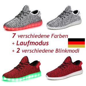 LED Schuhe Stoff Herrenschuhe Damenschuhe Gr. 38-44 Licht yezzy boost D-Händler