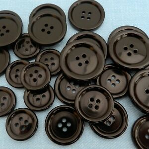 5-x-black-coat-buttons-4-holes-34mm-28mm-25mm-23mm-20mm-15mm
