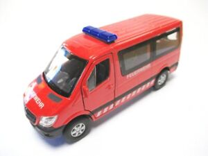 Mercedes-Sprinter-Pompiers-Voiture-Miniature-Metal-12-CM-QUALITE-Welly-Model