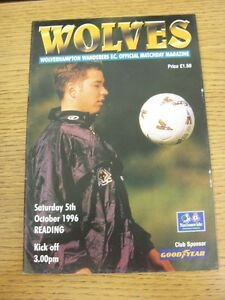 05-10-1996-Wolverhampton-Wanderers-v-Reading-Excellent-Condition