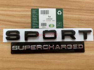 FOR Range Rover SPORT Glossy BLACK Lettering SUPERCHARGED Land Badge Logo Emblem