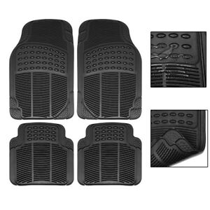 Car-Floor-Mats-for-All-Weather-Rubber-2-Front-Pieces-amp-2-Rear-Pieces-Heavy-Duty