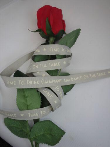 et Mme surprise Coeur Rose Rouge chiasmas Ruban East of India 10 mètres amour M