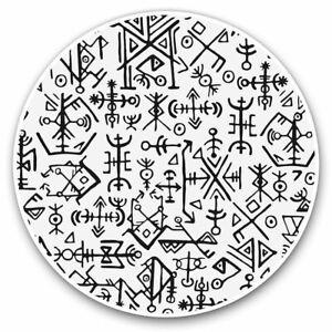2-x-Vinyl-Stickers-7-5cm-Icelandic-Viking-Symbols-Fun-Cool-Gift-2507