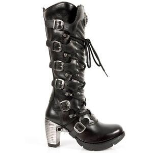 69fc1628786 NEW Rock 004-S1 Ladies Black 100% Leather Goth Punk Emo Rock Biker ...