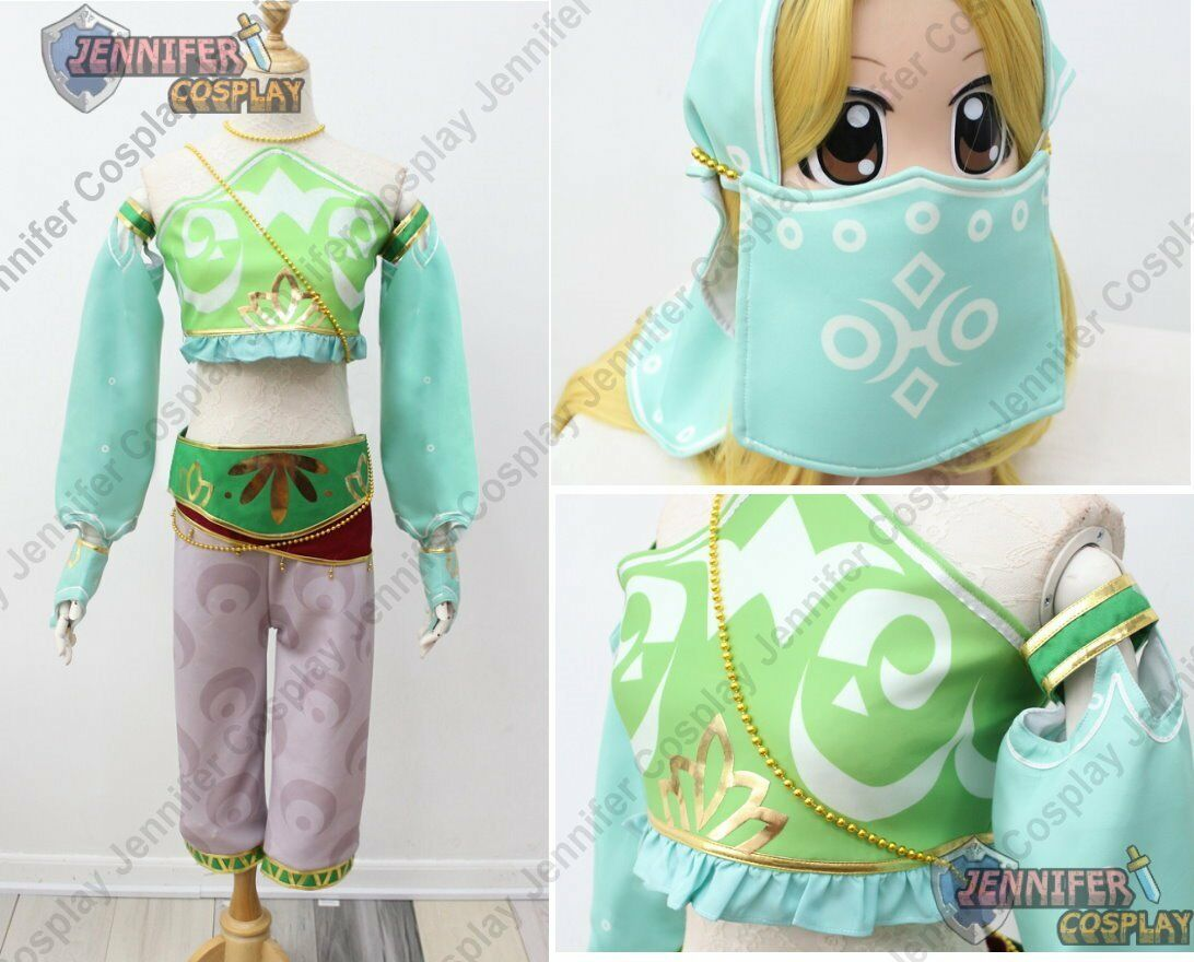 The Legend of Zelda - Breath of the Wild Gerudo Cosplay Costume with Headband J