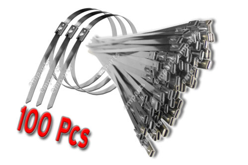 100x Stainless Steel Metal Cable ties Zip Straps Induction Pipe 4.6mm x 150mm