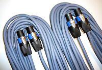 8m Lautsprecher Boxen Kabel mit Speakon NL4FX 2 Stück je 8m lang inkl.Kabelklett