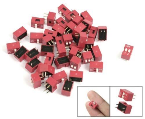 S802-10 PEZZI INTERRUTTORE DIP 2 pin RM 2,54 Micro codier selettore scorrevole pianoforte