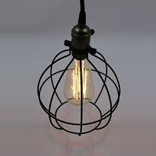 Vintage Style Industrial Metal Cage Mini Pendant Light Hanging Lamp ORB Finish