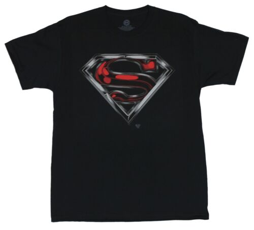 DC Comics Superman Classic Red and Silver Swirled Logo Mens T-Shirt