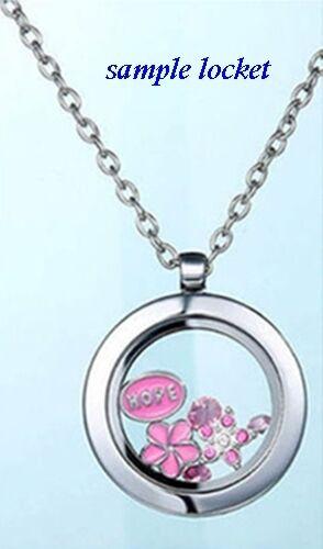 MOMMY/'S PRINCESS Pink Enamel /& Rhinestone 10mm Floating Charm for Memory Lockets