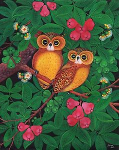 Hand-painting-Balinese-Owl-Birds-310